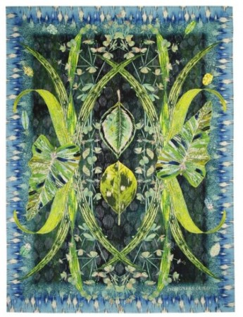 DESIGNERS GUILD - Arjuna Leaf Viridian Throw