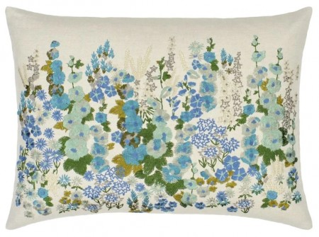 DESIGNERS GUILD - Hollyhock Celadon Cushion