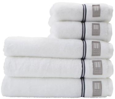Topp LEXINGTON - Hotel Towel White/Blue | Velkommen til Monstad FR-69